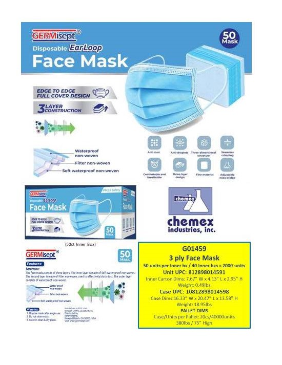 3 Ply woven Face Masks protect you