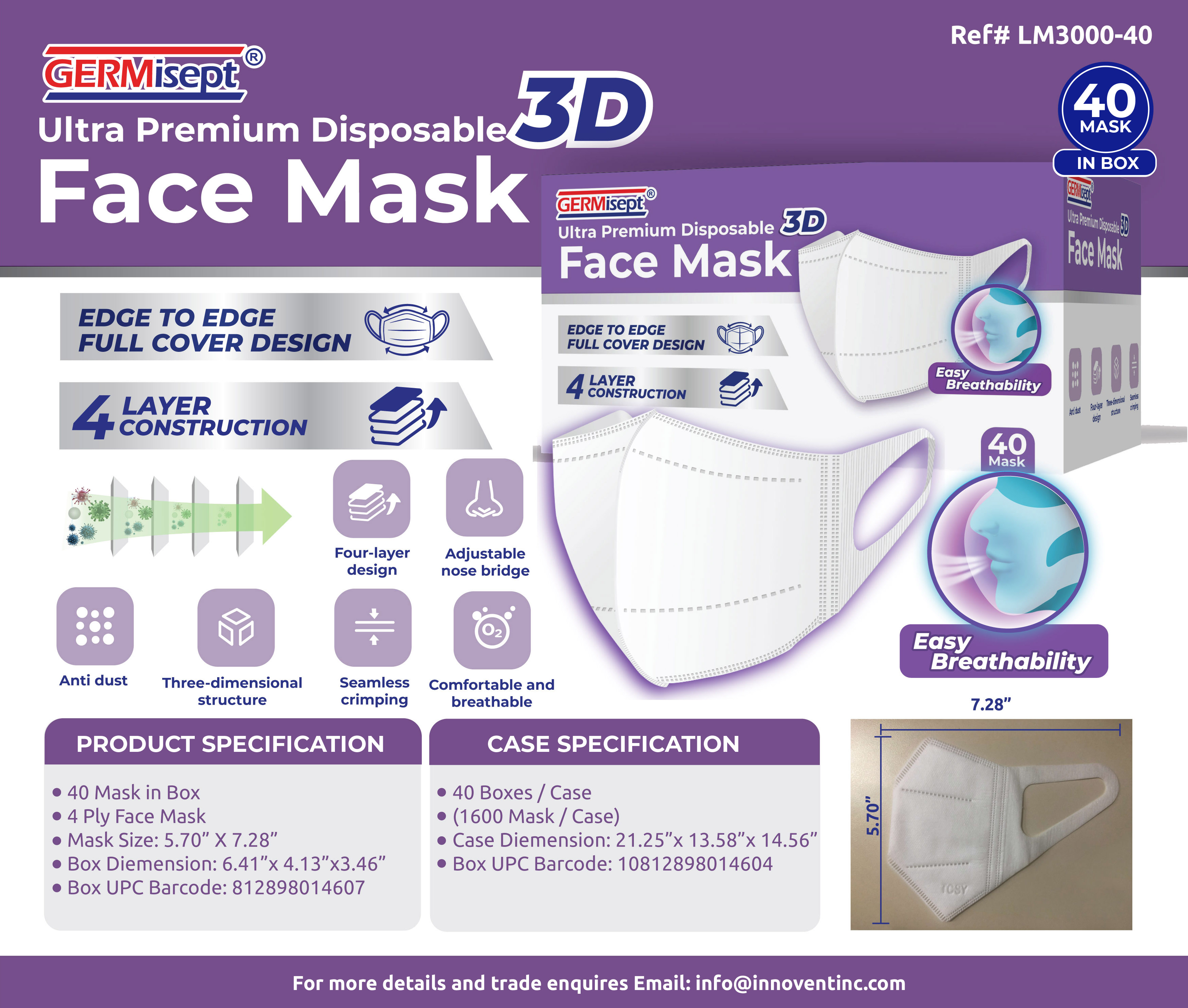 3D Mask -40 Count Offer