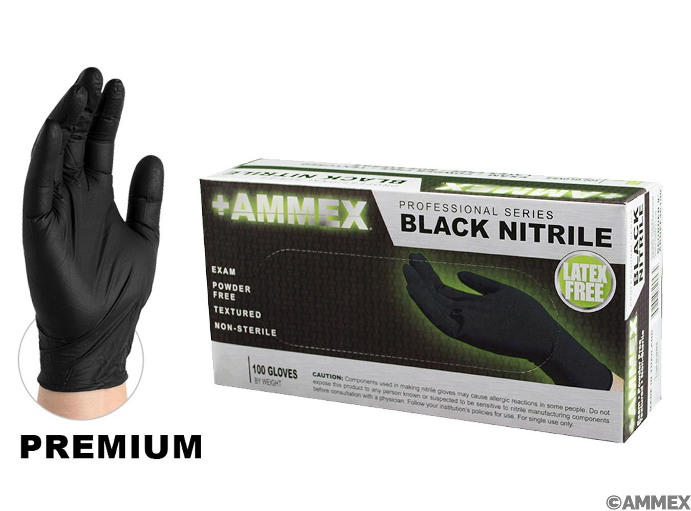 Black Nitrile exam grade gloves