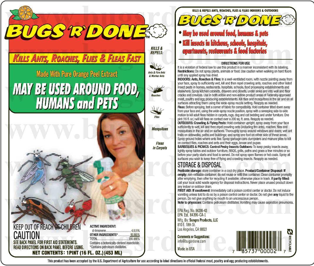 bugs are done, gras, kills termites