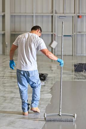 TWO-COMPONENT water-based 100% epoxy floor coating