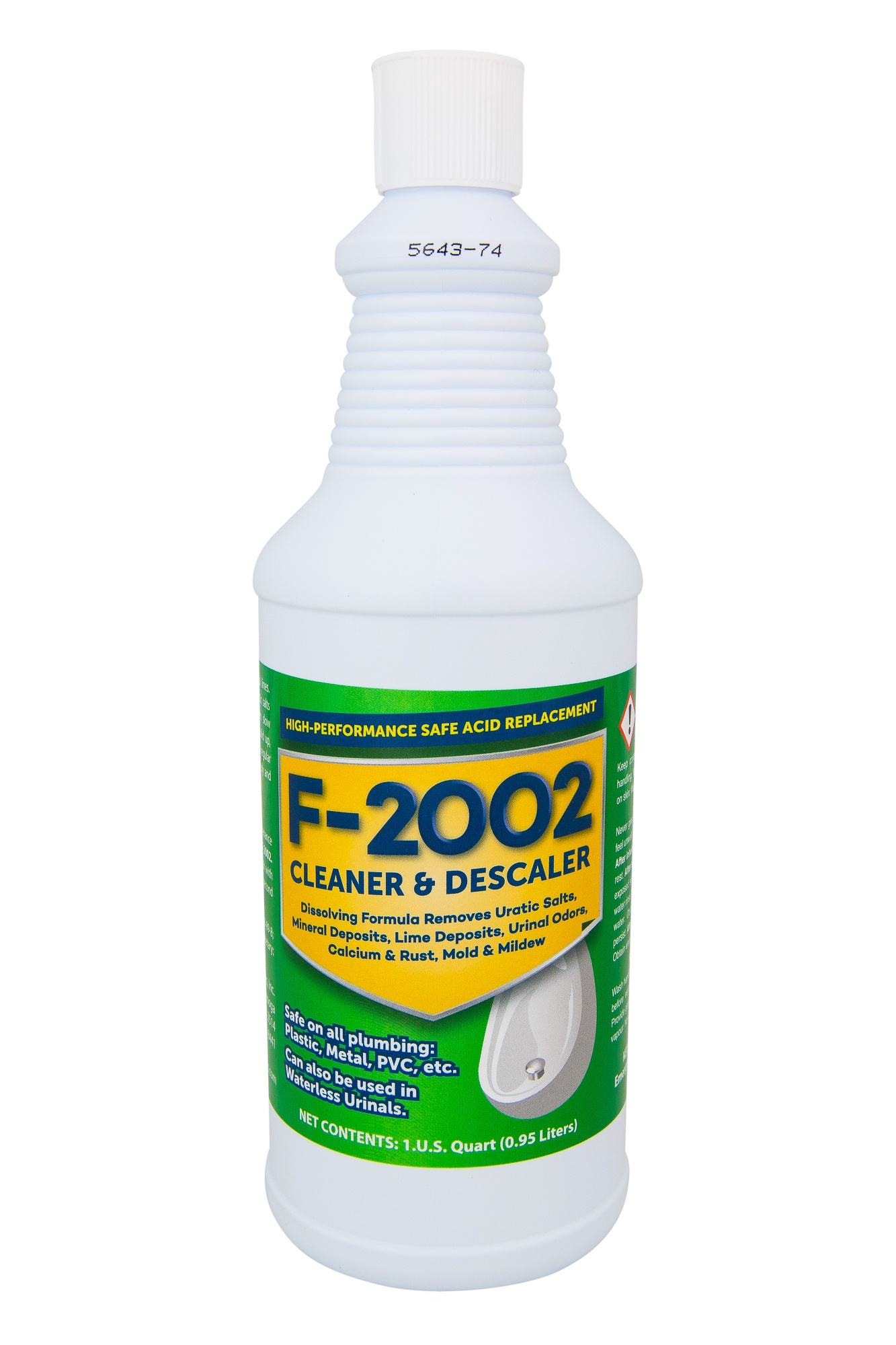 F-2002 ACID REPLACEMENT CLEANER, URINAL salts remover,