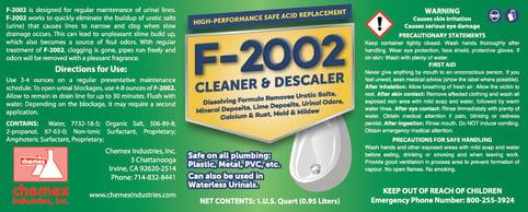 dissolves uratic salts in urinals, urinal cleaner descaler, fresh smelling urinals
