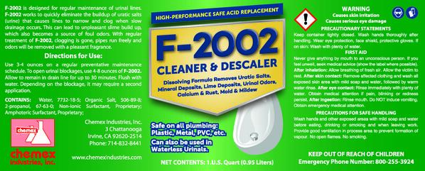dissolves uratic salts in urinals, urinal cleaner descaler, fresh smelling urinals