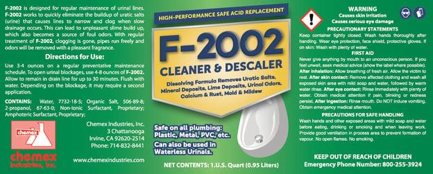 salt free urinals, dissolves uratic salts, removes minerals in urinals