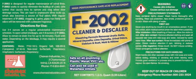 dissolves uratic salts, safe uratic salts remover, salt free urinals,