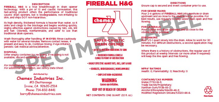 Fireball HG Dissolves hair and grease