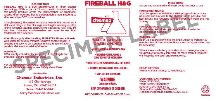 Fireball HG Dissolves hair and grease