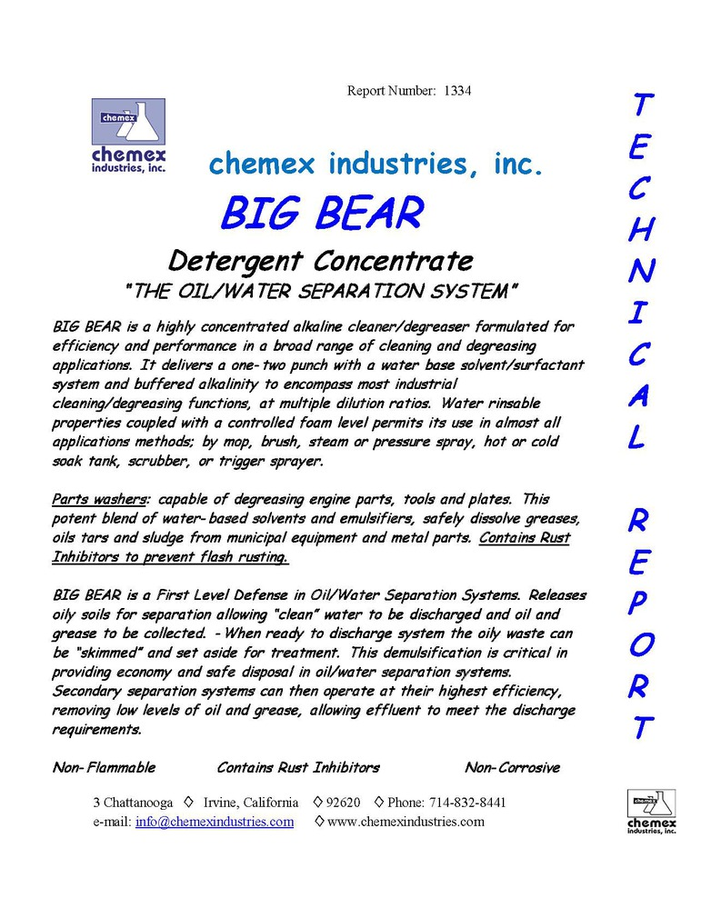big bear hd degreaser