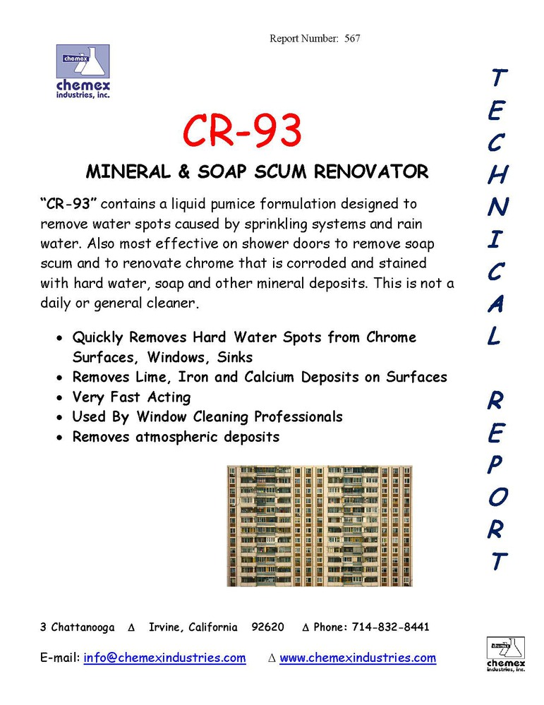 cr 93 hard water spot remover