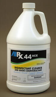 rx-44 ace hospital grade disinfectant, disinfectant cleaner and odor counteractant