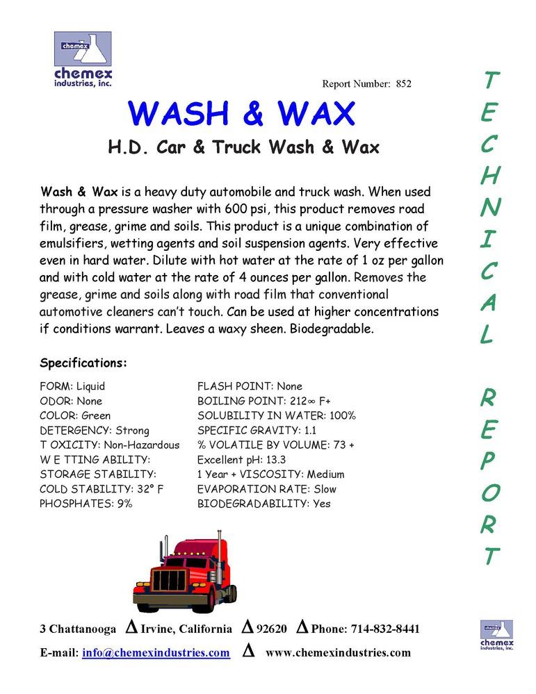 wash and wax