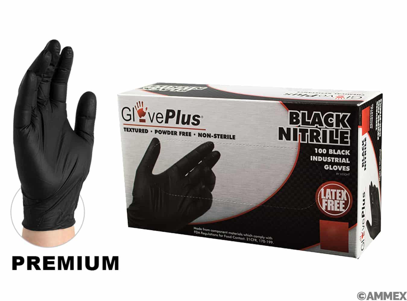 GlovePlus Black Nitrile Gloves
