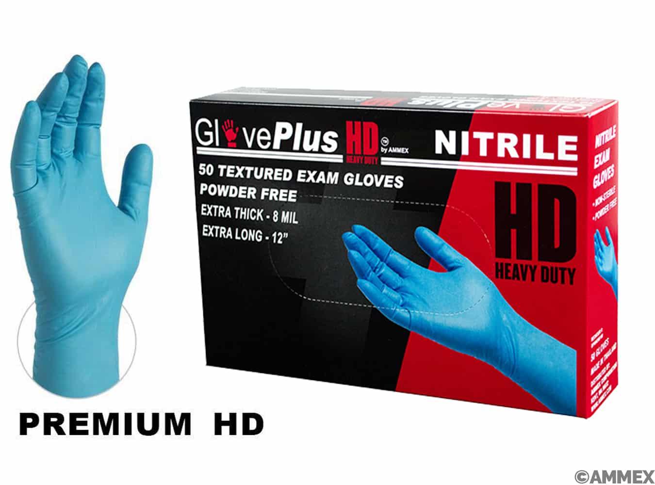 hd nitrile exam gloves, textured exam grade gloves
