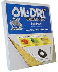 oil dri absorbent pads, quicksorb spill pads