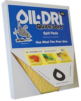 quick sorb spill pads oil dri, oil dri quicksorb pads universal