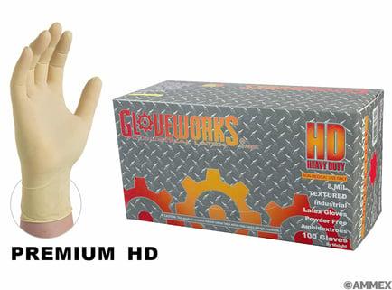Gloveworks hd latex pf 8 mill gloves
