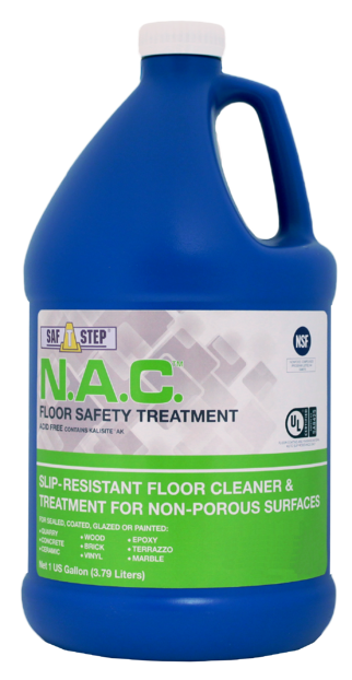 nac floor cleaner and safety treatment, nac for slip resistance