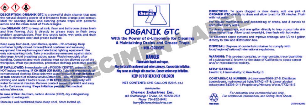 ORGANIK GTC citrus grease trap cleaner