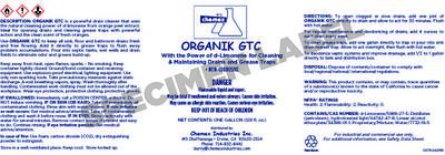 ORGANIK GTC citrus grease trap cleaner