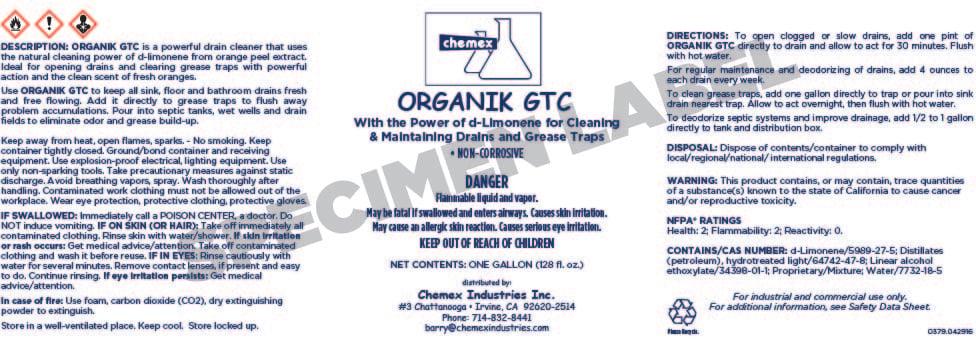 ORGANIK GTC Label Copy