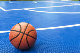 Rubber basketball floor