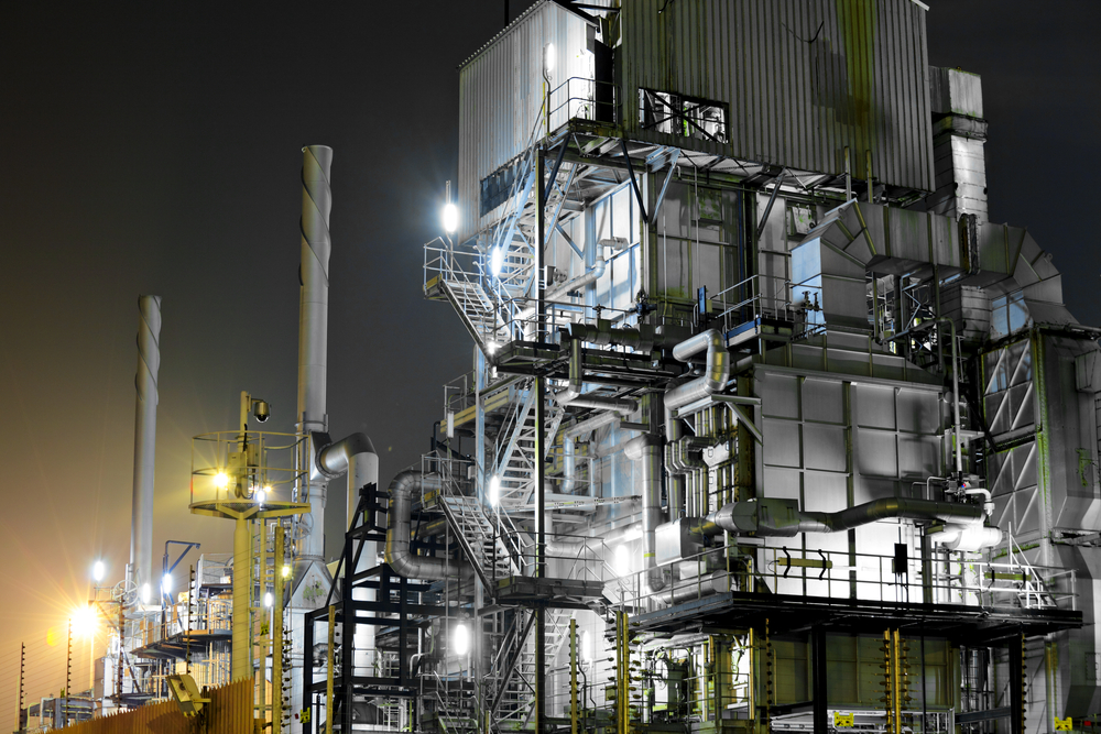 Industrial complex at night-1