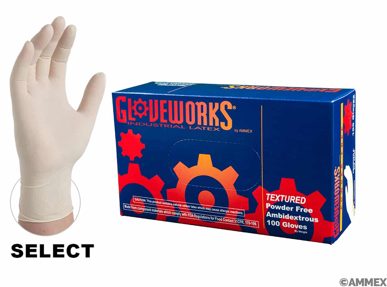 Gloveworks hd latex pf industrial gloves