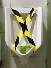 Urinal out of order