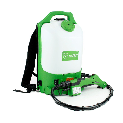 Back pack electrostatic sprayer for disinfecting