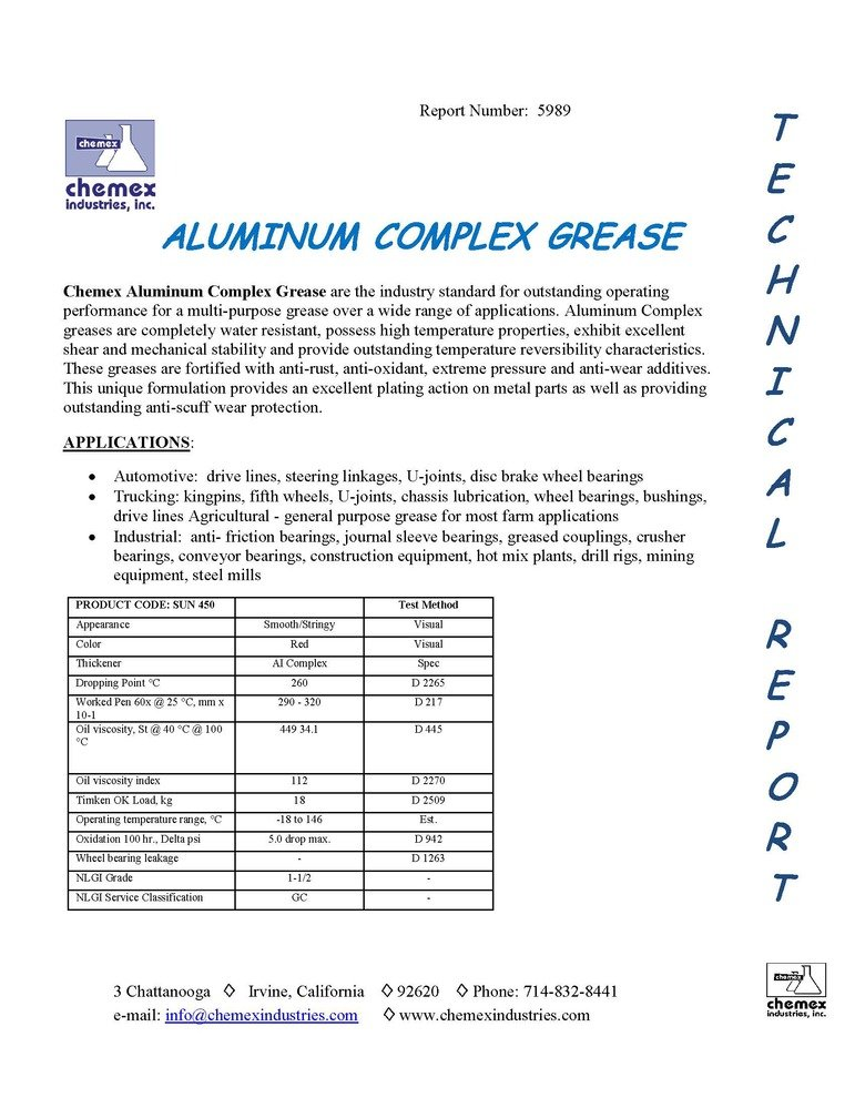 aluminum complex grease