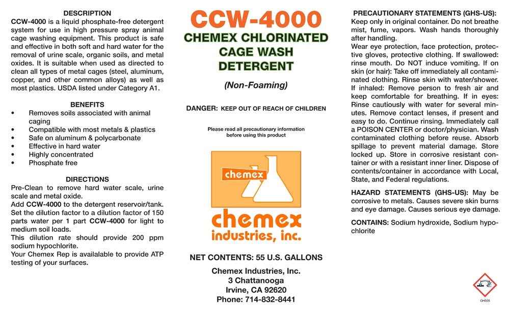 ccw 4000 chlorinated cage wash detergent