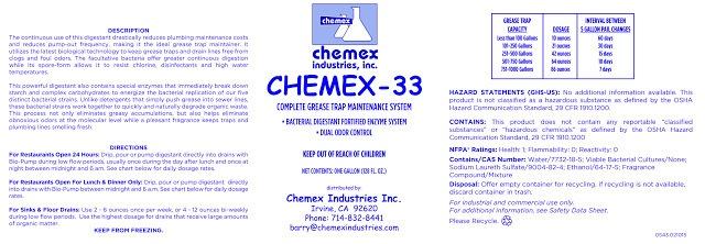chemex-33 Grease Trap