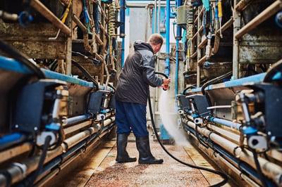 cleaning degreasing factory floor