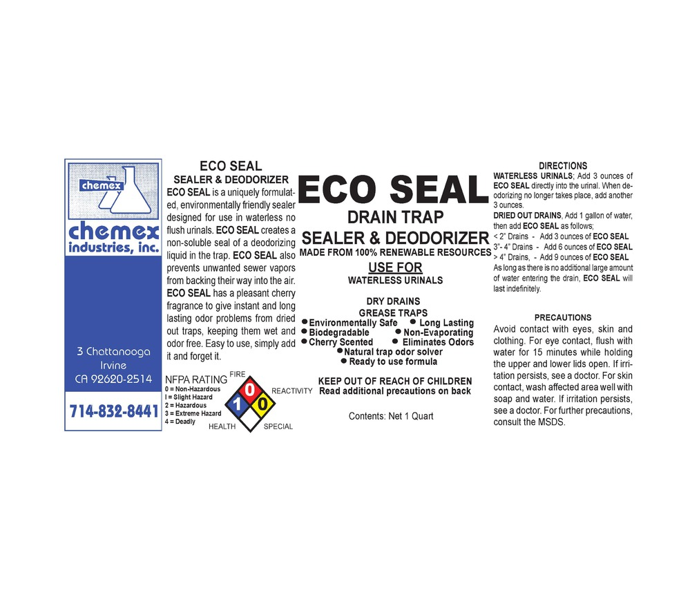 eco seal sealer and drain trap deoderizer