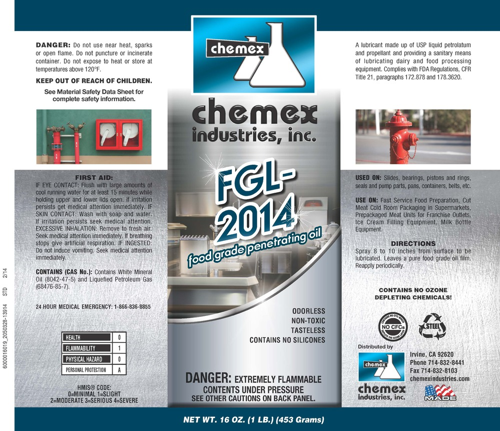 FGL 2014 food grade penetrating oil