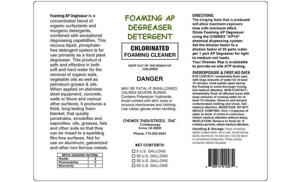 foaming ap chlorinated degreaser