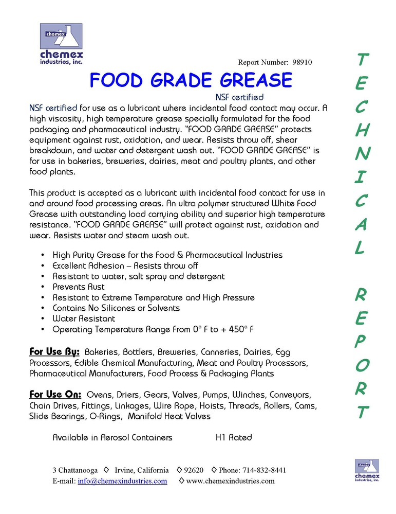 food grade grease aerosol