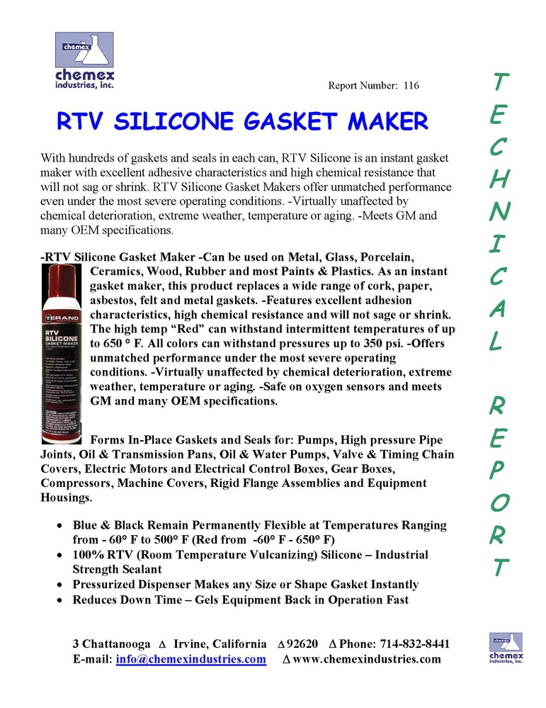 RTV silicon gasket maker