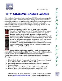 RTV silicon gasket maker