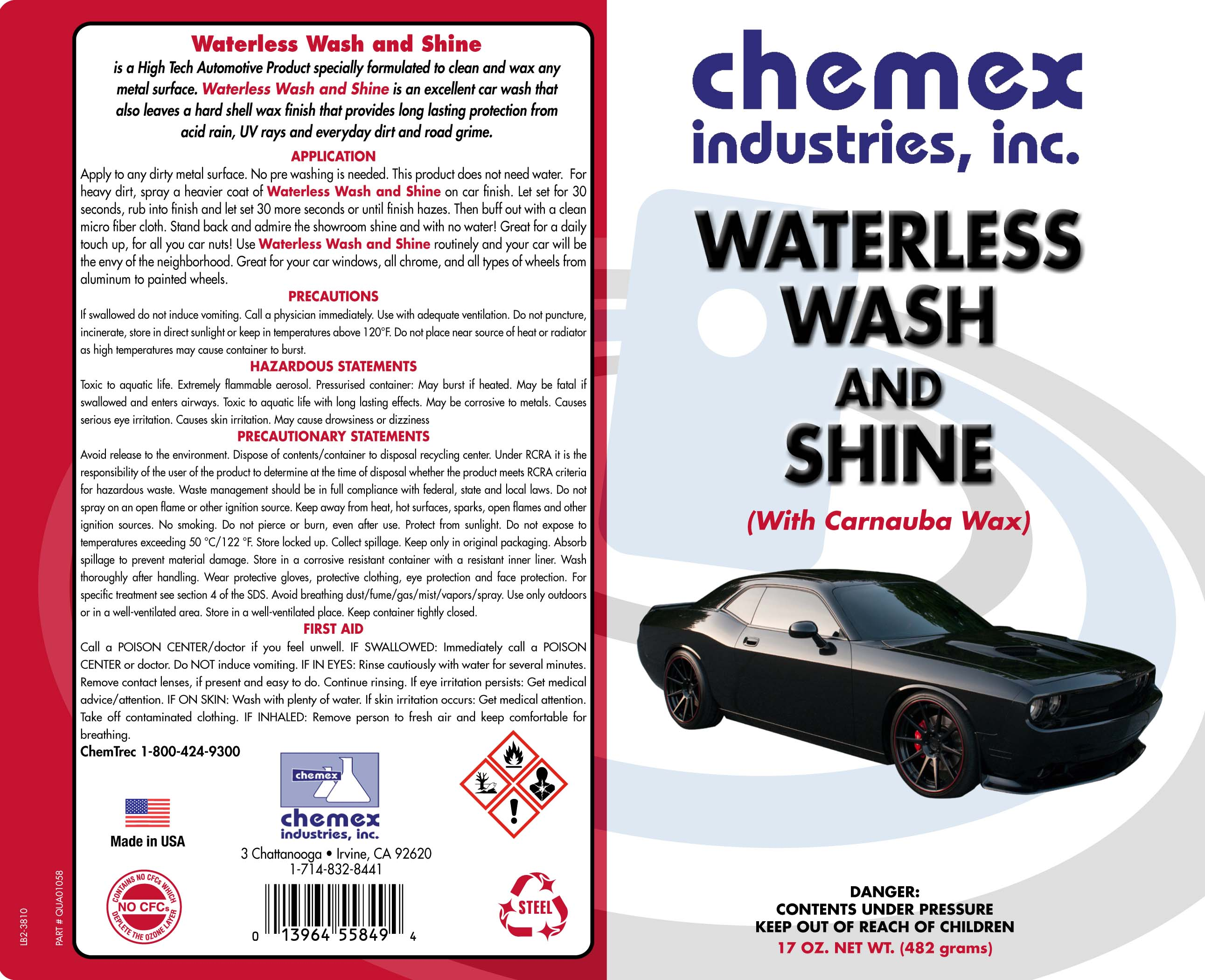 waterless wash and shine