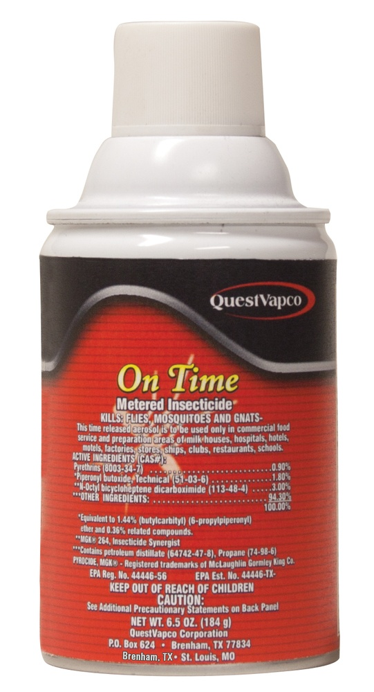 on time metered insecticide