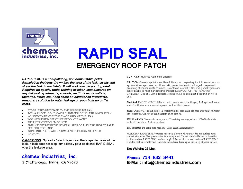 rapid seal emergency roof patch