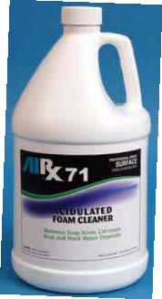 rx 71 acidulated foam cleaner