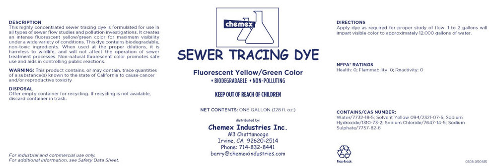sewer tracing dye