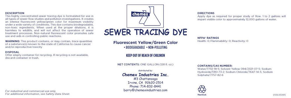 sewer tracing dye